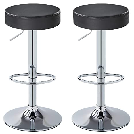 Excellent Duhome Bar Stool Adjustable Swivel Pu Leather Seat Kitchen Counter Height Contemporary Barstools Chair Set Of 2 410B 7 Gray Short Links Chair Design For Home Short Linksinfo