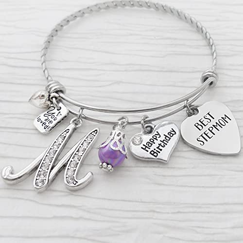 birthday gifts for step mom personalized bangle bracelet best stepmom you are loved