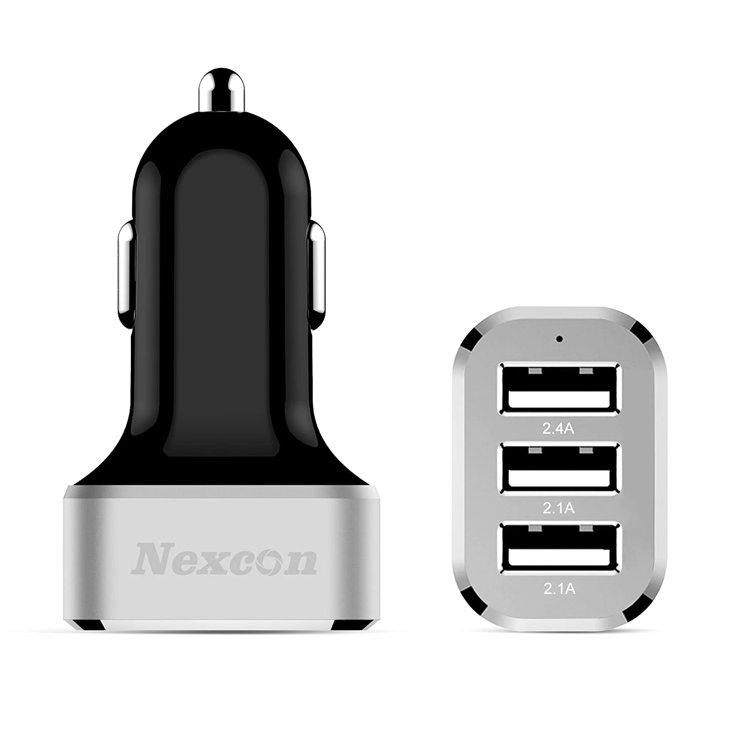 Amazon.com: Car Charger, Nexcon 6.6A / 33W 3 USB Ports Car Charger ...