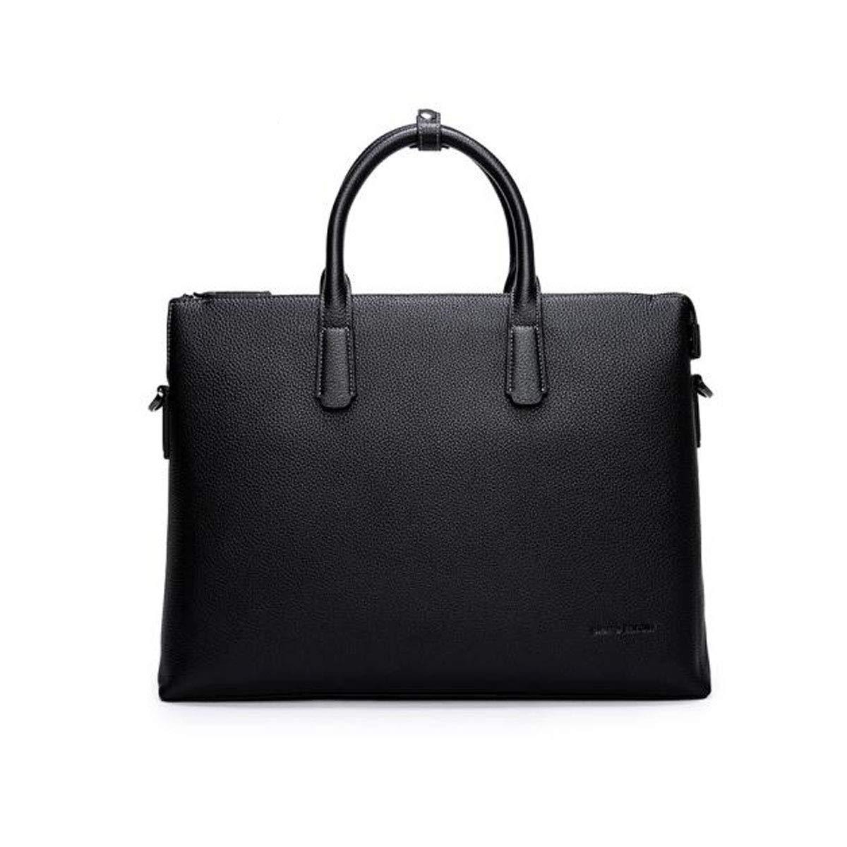 ブリーフケース、メンズビジネスカジュアルハンドバッグ、大容量コンピュータバッグ、ブラックサイズ:40 * 7 * 30 cm  ブラック B07R64FCD3