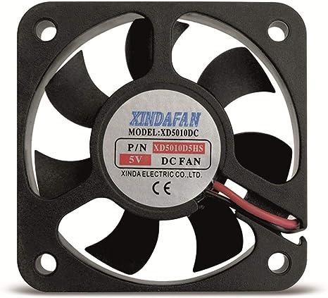 Ventilador pequeño, 50 x 50 x 10 mm, 5 V/DC: Amazon.es: Informática