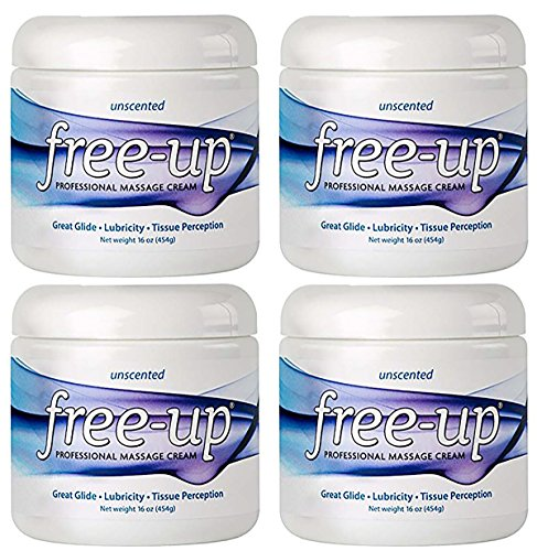 - Freeup Professional Massage Cream 16 Oz - Unscented - (Pack of 4)