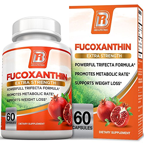 BRI Nutrition Fucoxanthin - Maximum Strength Seaweed Extract Plus Green Tea Extract Metabolism Booster - 30 Day Supply - 60 Capsules (Hoodia Green Tea Patch)