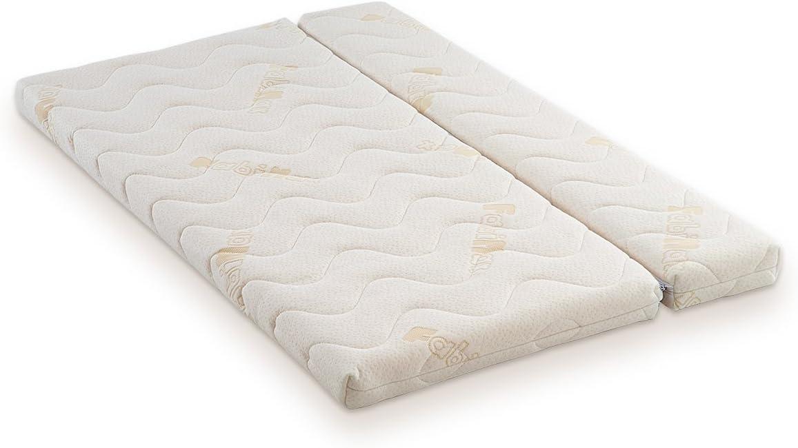 Talla:mit Matratze CLASSIC FabiMax Pro color blanco 13 Amelie blanco Cuna auxiliar con colch/ón y cuna