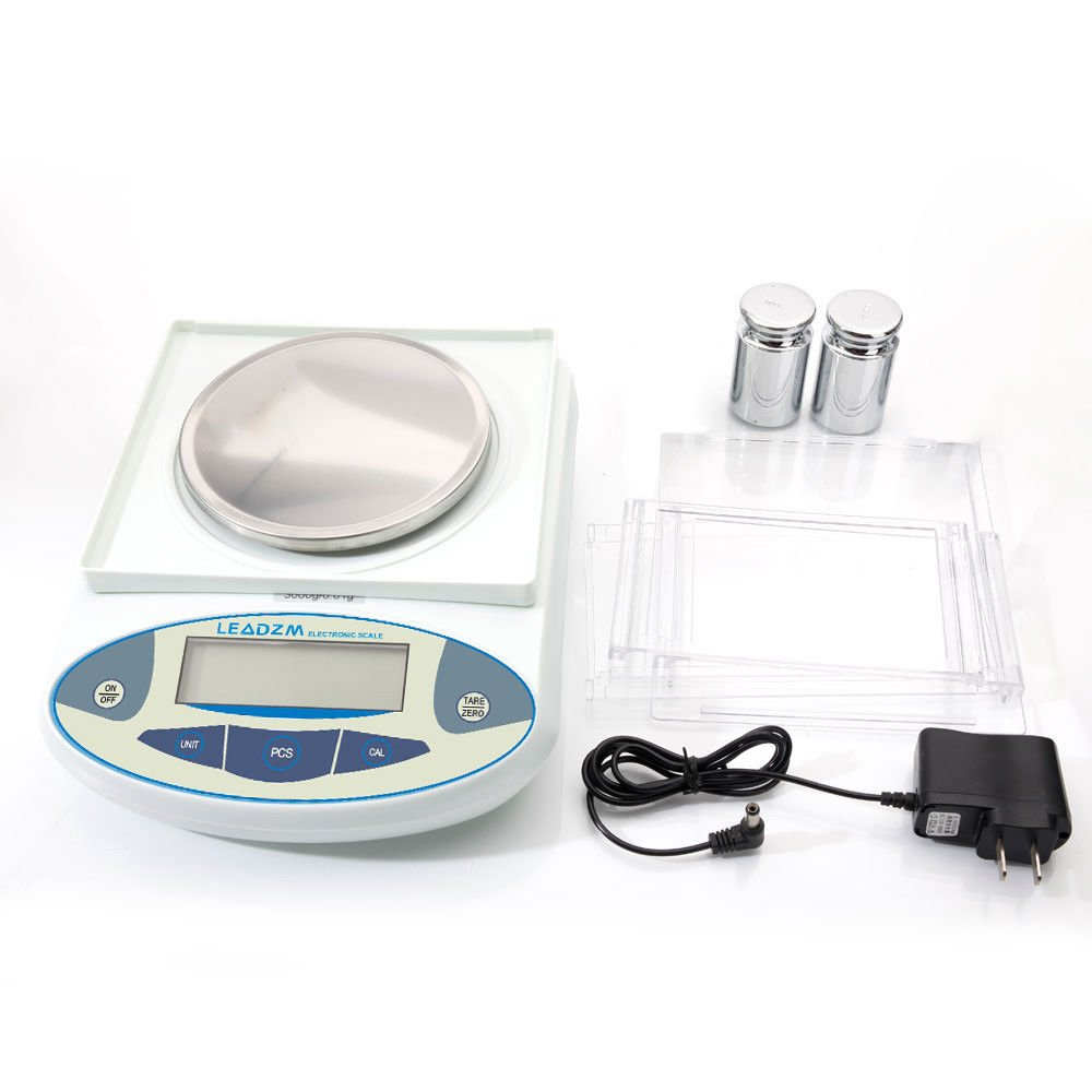 3000g/0.01g Precision Balance Scale LCD Digital Scientific Lab Instrument Laboratory Scale White Electronic Analytical Balance by Mont Pele (Image #1)