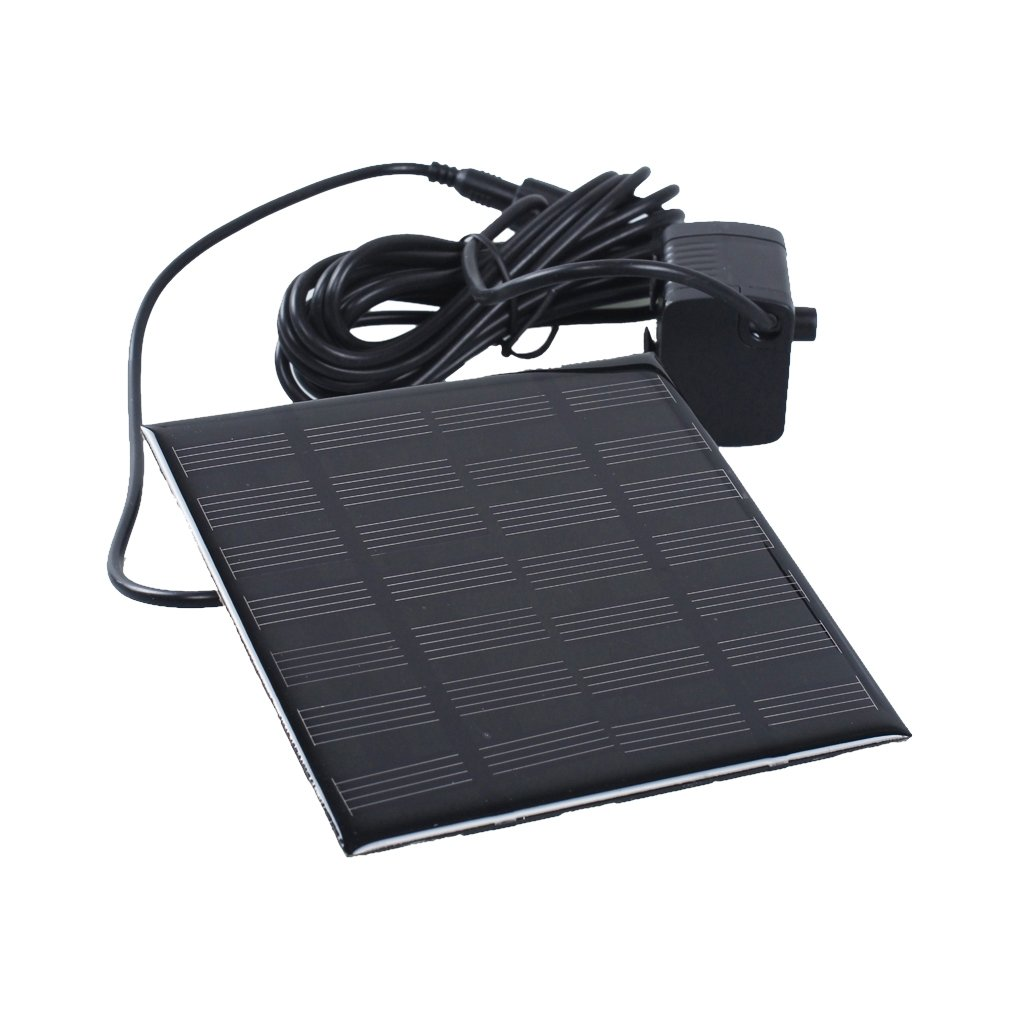 A-szcxtop solar-powered Decorative panel Fountain pump for Pool Garden Watering