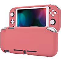 eXtremeRate PlayVital Customized Protective Grip Case for Nintendo Switch Lite, Indian Red Hard Cover Protector for…