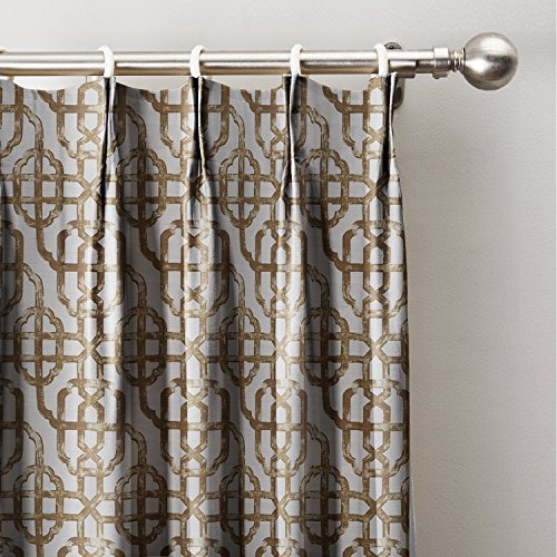 ChadMade Neutral Trellis Window Curtains 50