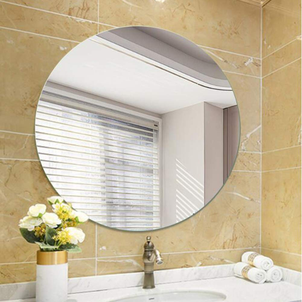 European Style Home Decoration Mirror Vanity Mirror Makeup Mirror 50cm 60cm 70cm 80cm Bathroom Mirror Round Wall Mounted Frameless Mirror