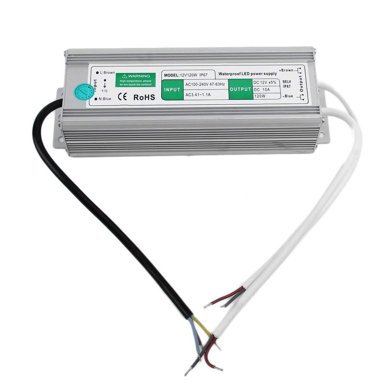 Negozio 2018 Impermeabile 10A 10A 10A 120W 12V alimentazione elettrica di commutazione del trasformatore per l'esposizione di LED esterna di commutazione vita Impermeabile Alimentazione Rone  l'intera rete più bassa