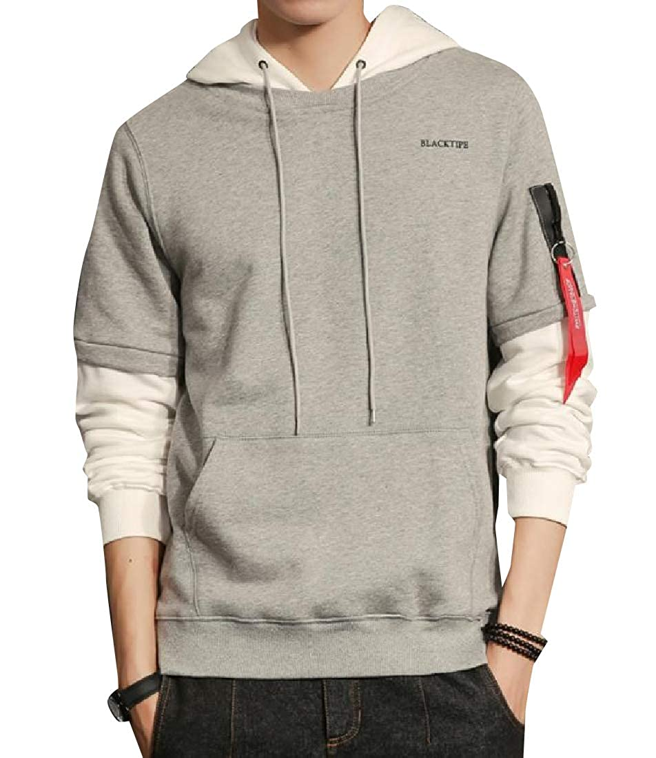 Yusky Mens Classic Fit Faux Twinset Tracksuit Top with Strings
