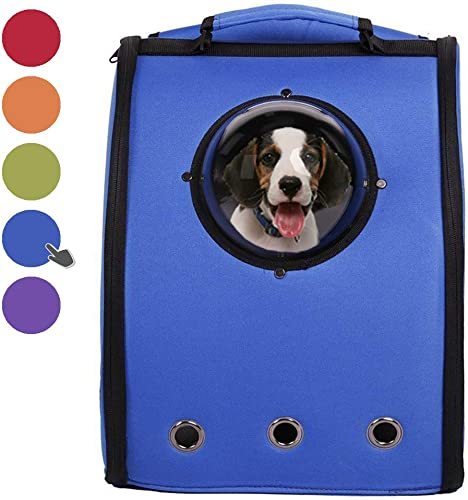 Livebest Pet Carrier Innovative Bubble Backpack for Small Dog Cat with Semi-Sphere Window and Ventilation Holes for Outdoor Hiking Trip Travel