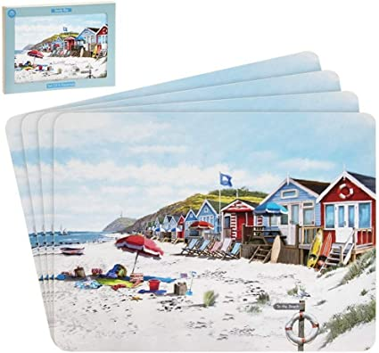 New 2020 Design Sandy Bay Seaside Set Of 4 Placemats Dining Table Place Mats