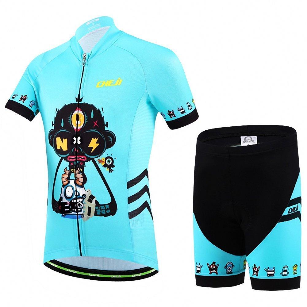 Value Sport Kids Cycling Jersey Set (Short Sleeve Jersey + Padded Shorts) by Value Sport