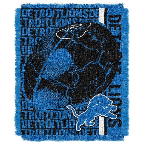 """The Northwest Company NFL Detroit Lions Double Play Jacquard Throw, 48"""" x 60"""""""