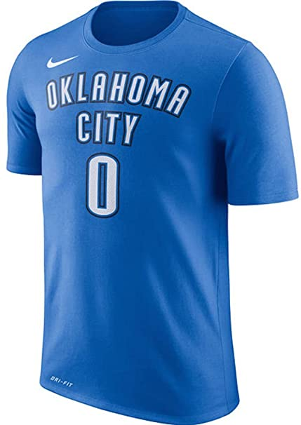 add0347967d NIKE Russell Westbrook Oklahoma City Thunder Name & Number Performance T- Shirt - Blue -