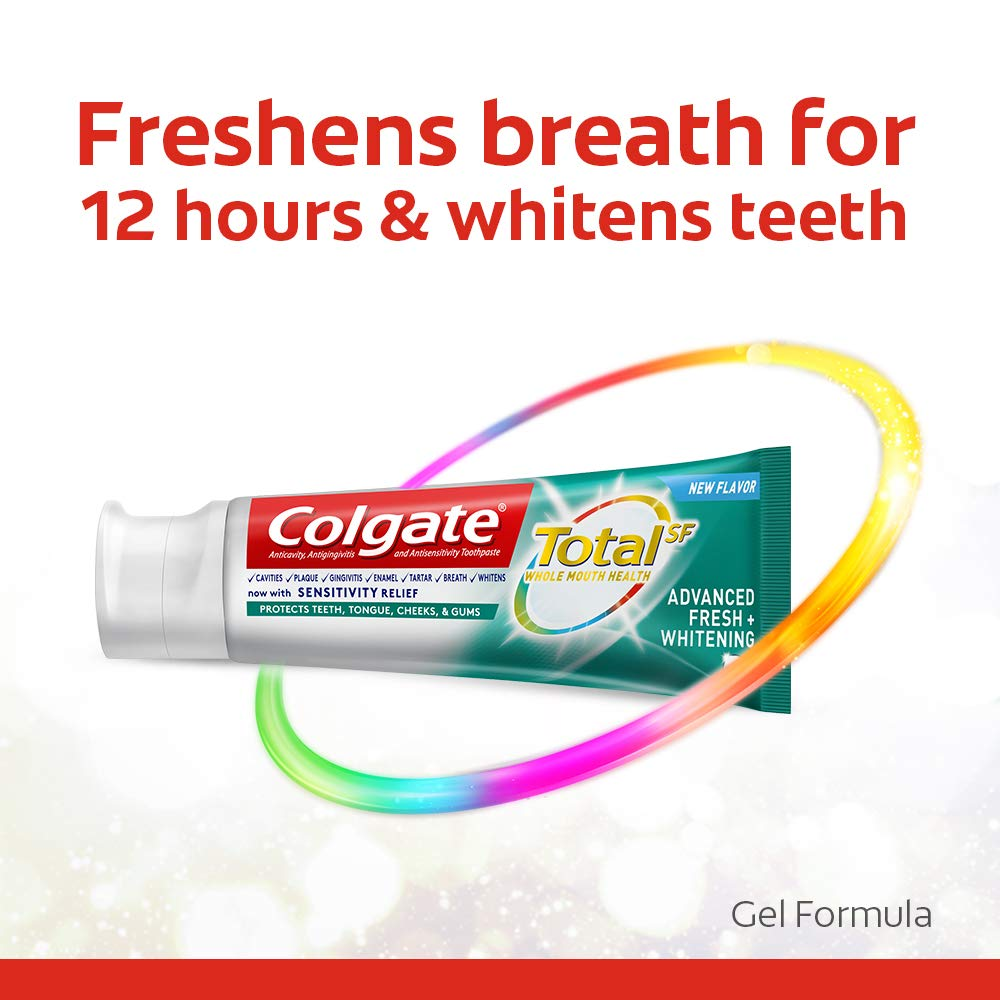 Colgate Total Advanced Fresh + Whitening Gel Toothpaste, 4 Count by Colgate (Image #3)