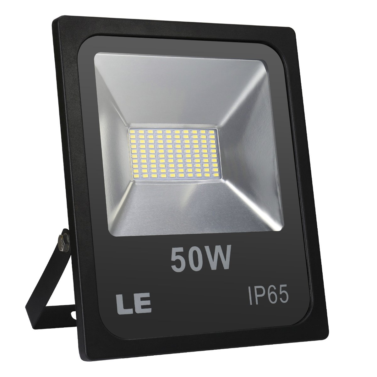 LE 50W 4000lm Super Bright Outdoor LED Flood Lights, Daylight White 6000K, 150W HPSL Equivalent, Waterproof, Security Lights, Indoor & Outdoor Floodlight. (No Plug)