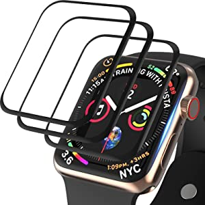 [3 Pack] Screen Protector Compatible for Apple Watch 38mm Series 3 Series 2 Series 1, FIFCHALL [3D Curved Edge] Anti-Scratch Bubble-Free Ultra HD Flexible Film Protector for iWatch Series 3/2/1