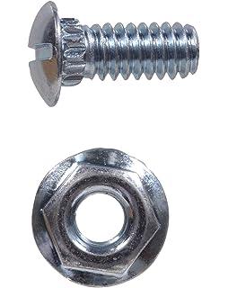 RB Garage Door Track Bolt /& Flanged Nut 1//4x 9//16 100 Bolts /& Nuts