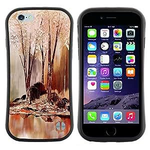 "Hypernova Slim Fit Dual Barniz Protector Caso Case Funda Para Apple (4.7 inches!!!) iPhone 6 / 6S (4.7 INCH) [Naturaleza Hermosa Forrest Verde 64""]"