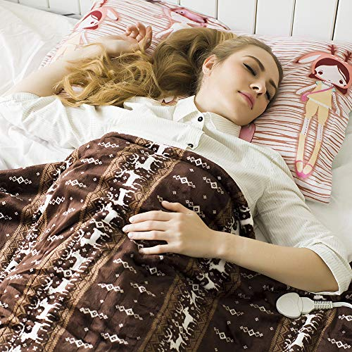 Tefici Washable Throw Blanket with Fast Technology, Off