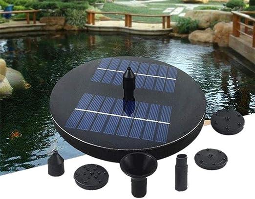WSN Fuente Solar Bomba,Fuente Solar Flotante Estanque de jardín Riego Bomba de Agua Jardinería Estanque de jardín sin batería: Amazon.es: Hogar