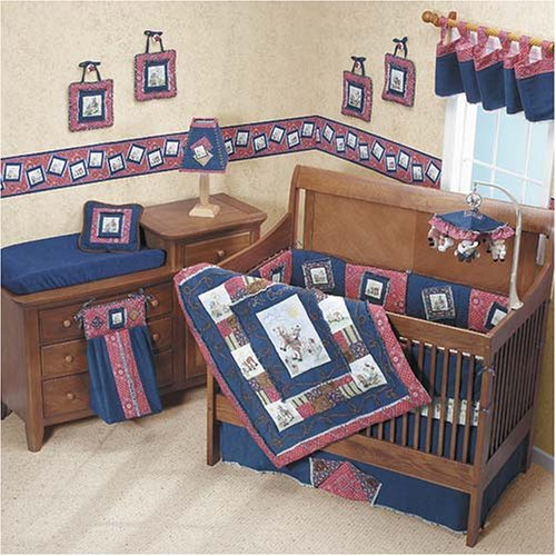 Jan Marie Lil' Cowpoke Soft Wall Art 4 Piece Set, Nursery, Childs Room