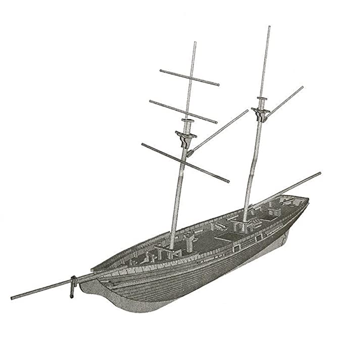 1:70 Scale DIY Wooden Sailboat Ship Kit Home Model Decoration Kids Toy Boat Gift