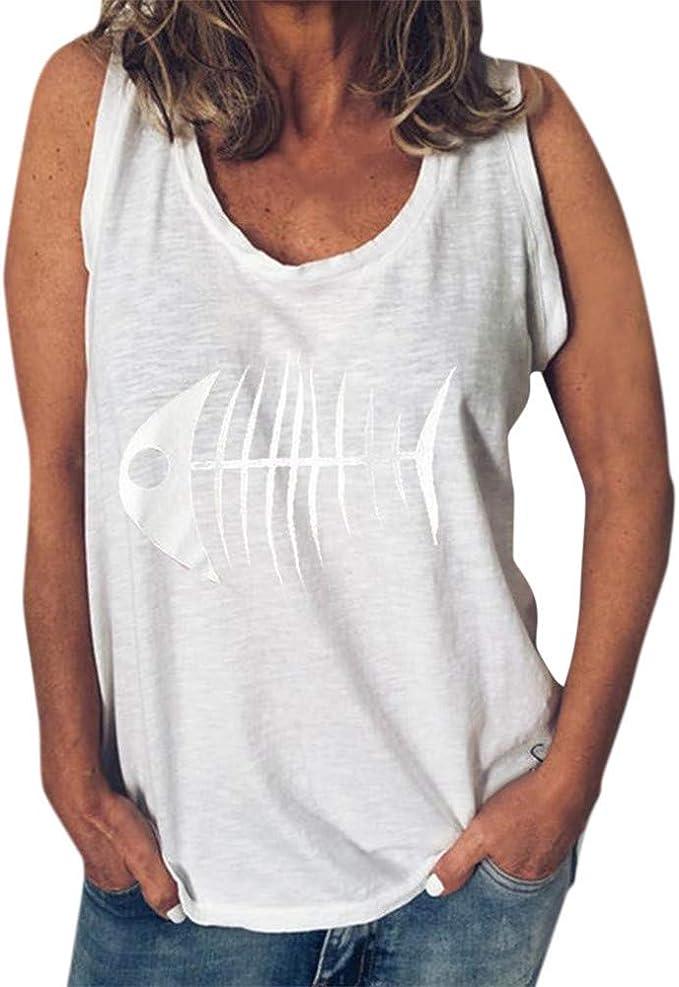 Camiseta Sin Mangas con Cuello Redondo De Verano para ...