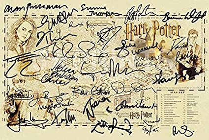Harry Potter Hogwarts Ultimate Map Poster Wizarding World Cast ...