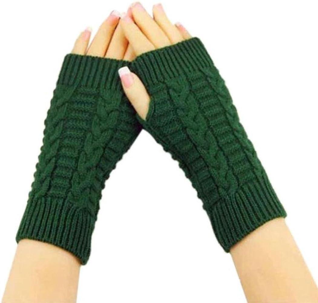 YunYoud Mode Gestrickt Handschuhe Frau M/änner Winter Arm Fingerlos Strick Handschuhe Gesteppt Faden Gestrickte Fingerlose Armstulpen Feinstrick Handschuhe