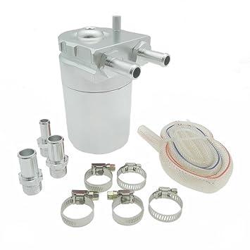 Heinmo - Depósito de aceite universal de aluminio pulido inoxidable