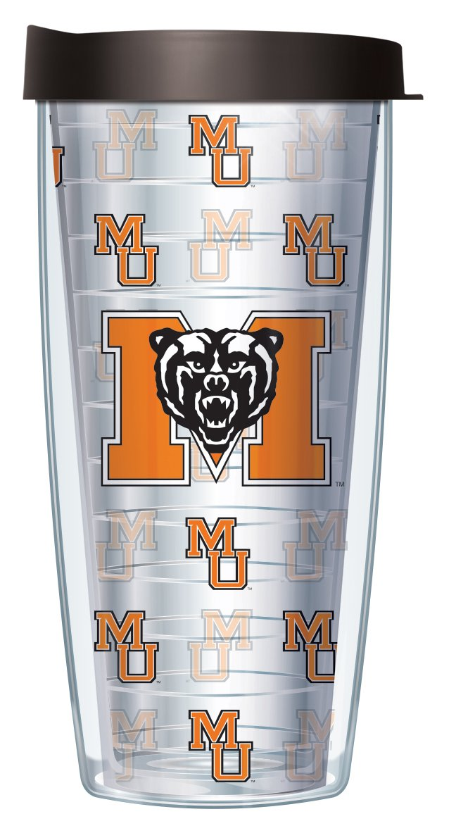 Mercer University Repeat Logo Clear 16 Oz Traveler Tumbler Mug with Lid