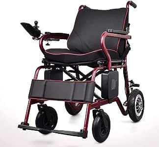 ZXMDP Silla de Ruedas eléctrica, Ligero y Plegable Marco, Operador de móviles de Silla de Ruedas, portátil de Viaje Tránsito Chairfor, Adecuado para los Ancianos discapacitados, batería de Litio 10AH