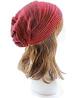 Sandistore hot sale Unisex Knit Baggy Beanie Beret Winter Warm Oversized Ski Cap Hat (Red)