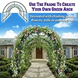 BenefitUSA Multi-use Support Arch Frame for Climbing Plants/Flowers/Vegetables, plant Trellis (20' X 10' X 7')
