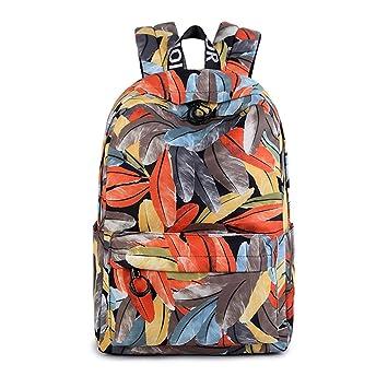 WEATLY Mochila Réplica Espalda Monedero Girls High School Student Student Commuter School Peso Ligero Gran Capacidad a4 Tamaño ala (Color : Orange): ...