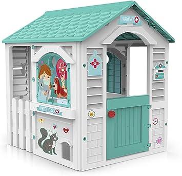 Chicos Centro Casita Infantil de Exterior. Incluye 11 Accesorios de Veterinario. A Partir de 24 Meses, Color Blanca y Turquesa (89619): Amazon.es: Juguetes y juegos