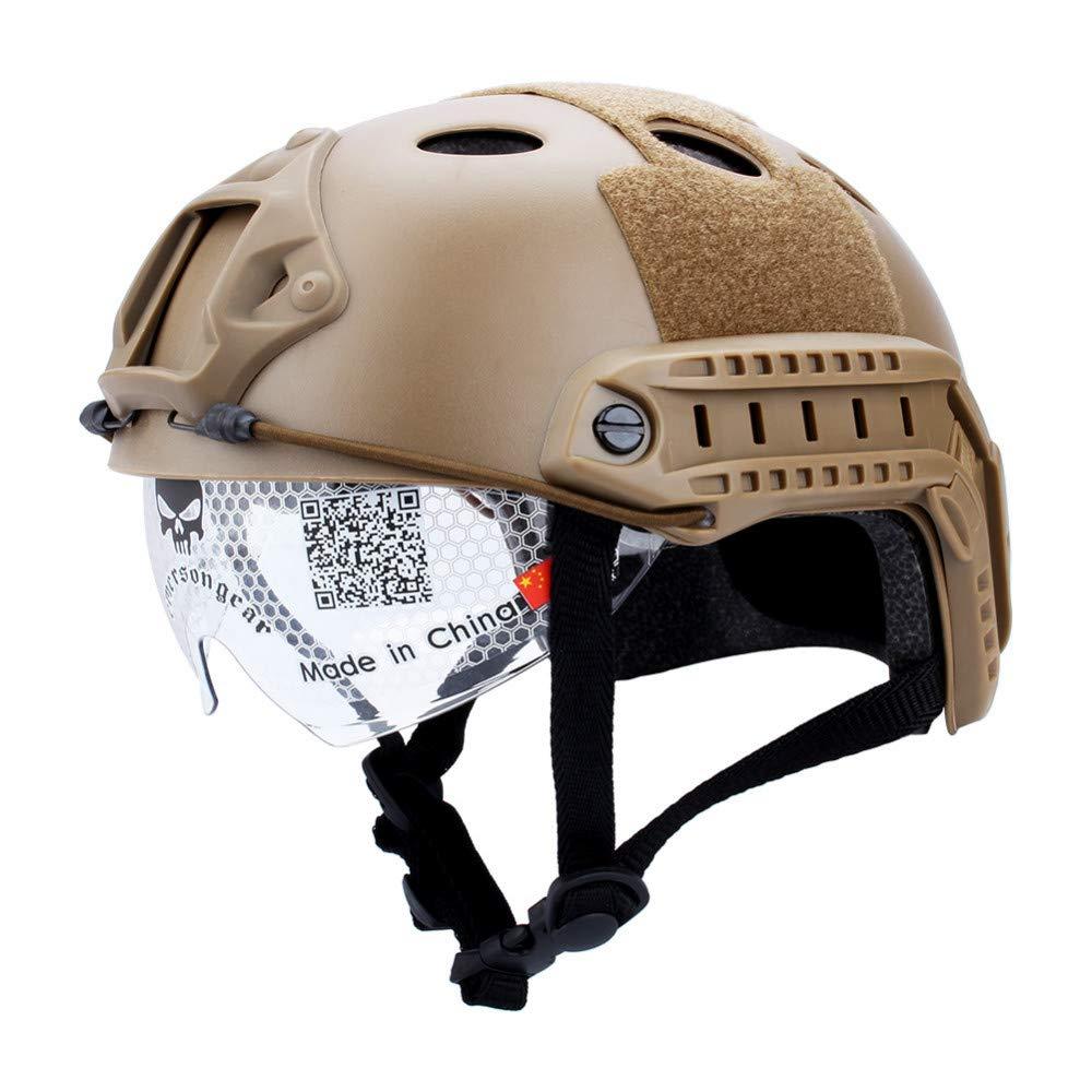 Feeyond Qualitativ hochwertige Maskenbrillen schnelles taktisches Helmzubehör schneller Sprungschutz Reitschutzausrüstung
