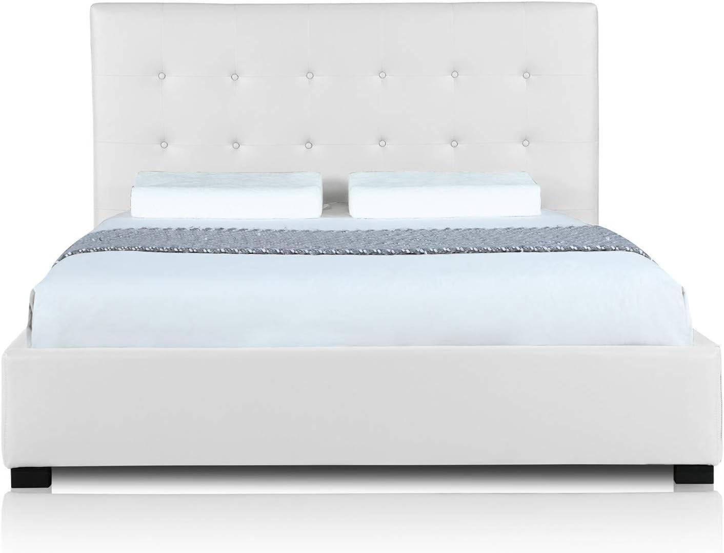 INTENSEDECO Intense Déco – Cama baúl Layton + somier 160 cm Color Blanco