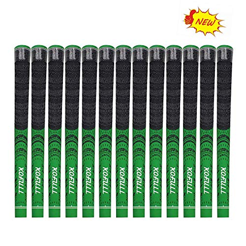 kofull Gifts-Golf Grips R60 - Juego de 13 agarres para Palos de Golf (Fibra de Carbono, Mango multicompuesto, Antideslizante)