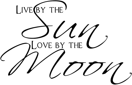 LIVE by the sun LOVE By The Moon vinyl wall decal quote sticker Inspirational