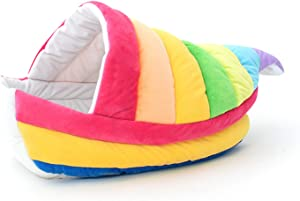 LUCKITTY Pet Bed for Small Cat Kitten Puppy Hamster Hedgehog Squirrel Mice Rats and Other Small Animals Rainbow Boat
