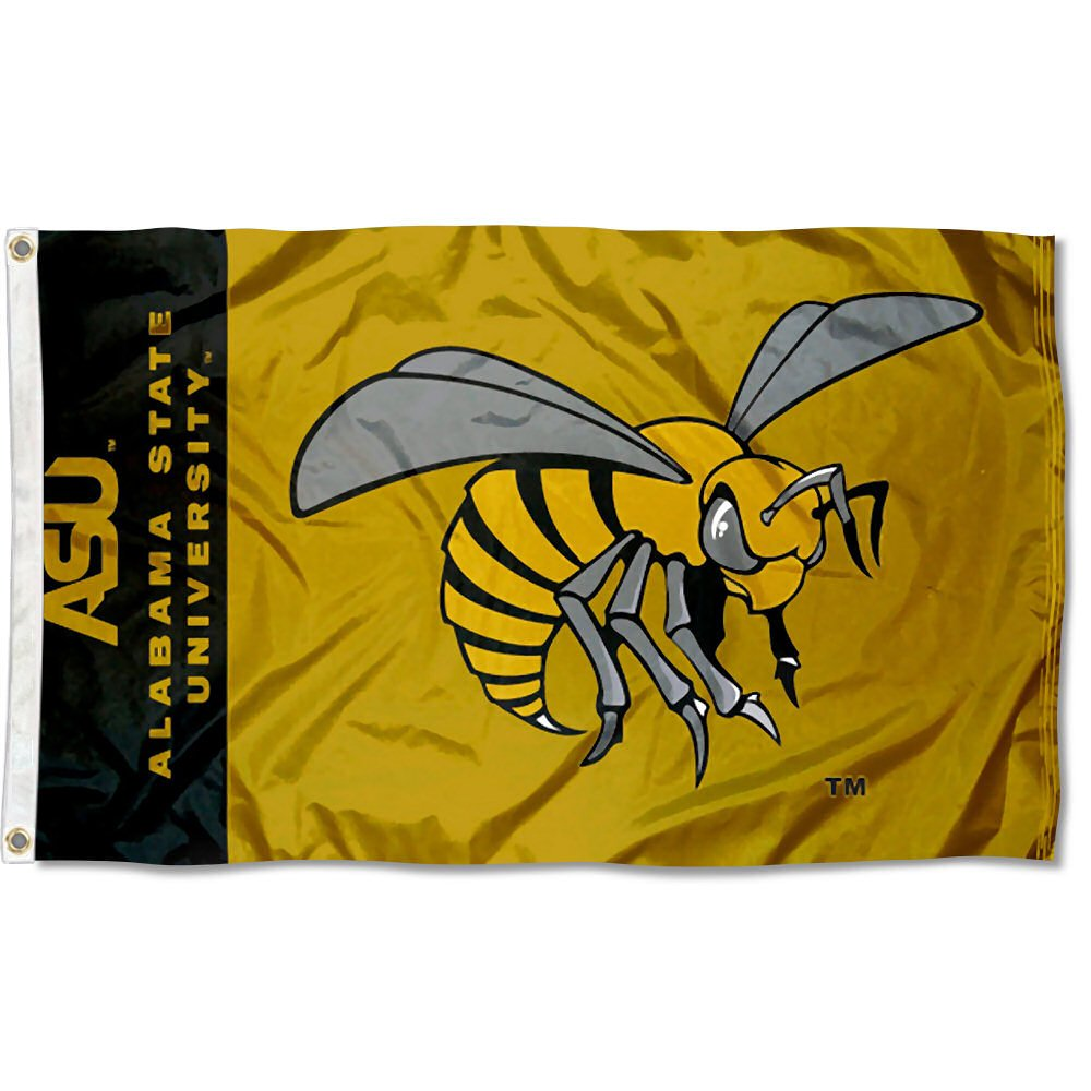 College Flags and Banners Co Alabama State Hornets ASU Flag