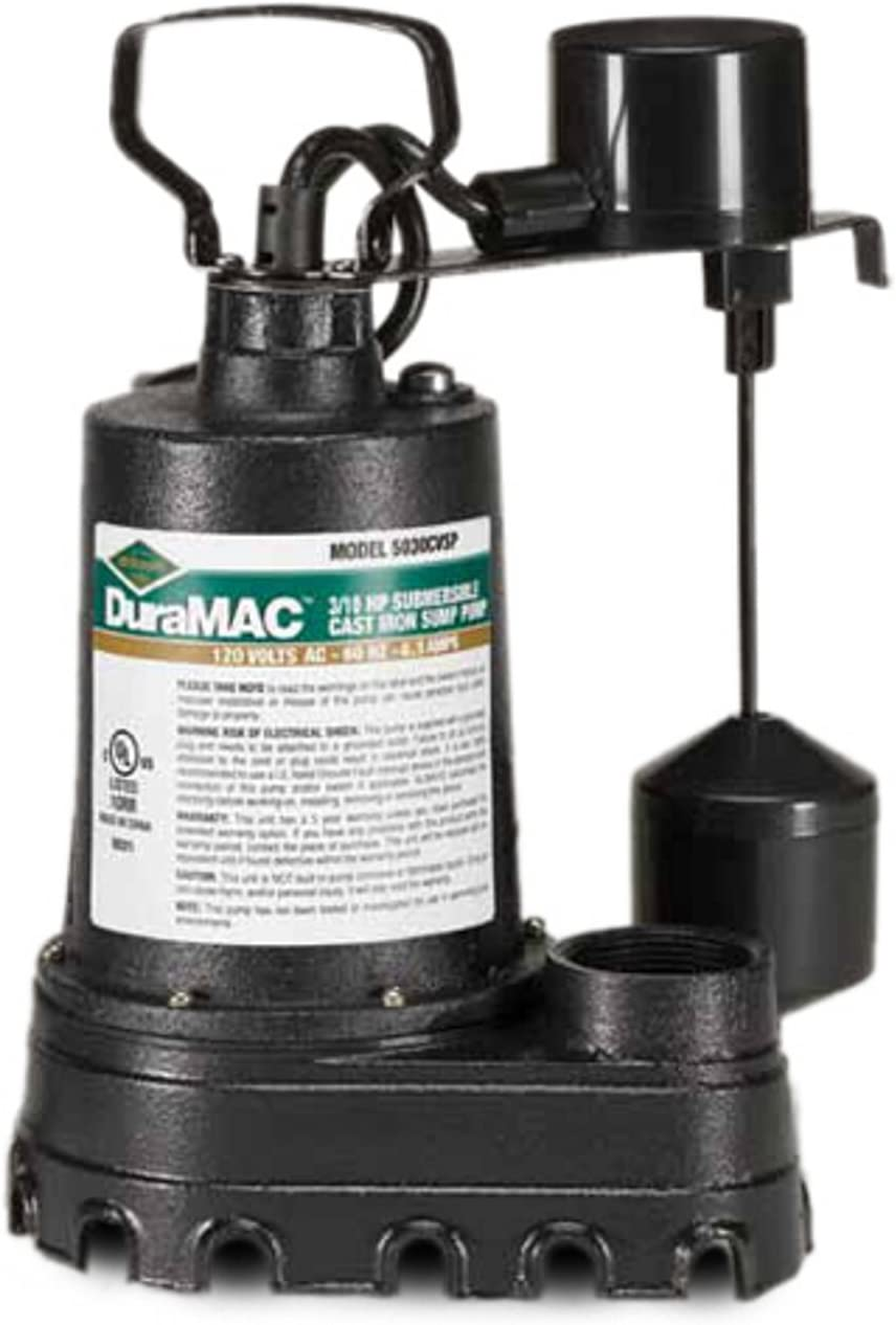 AY McDonald 6190-148 5030CVSP Cast Iron Vertical Sump Pump 3//10 HP