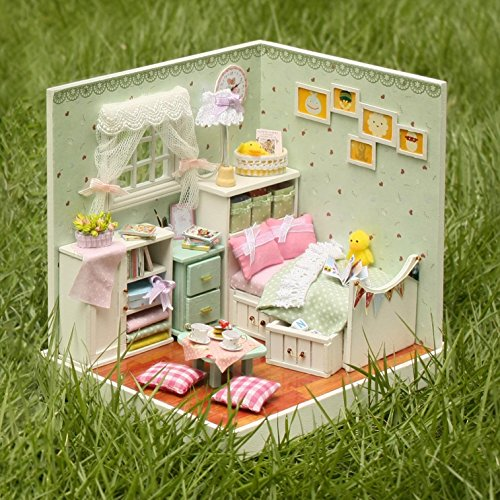 SICA Cuteroom DIY Wooden Dollhouse The Wizard of Oz Handmade Decorations Model with LED Light and Cover