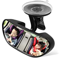 AIPROV Baby Car Mirror Suction Cup, Rearview Baby Mirror, Baby Backseat Mirror for Car,Easily to Observe the Baby's Every Move, Safety and Wide Angle 360 Degree Rotatable