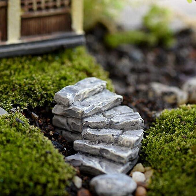 NPRADLA Miniatura de Piedra Curva Puente Escaleras Decoración para el hogar Hada Adorno Jardín: Amazon.es: Juguetes y juegos