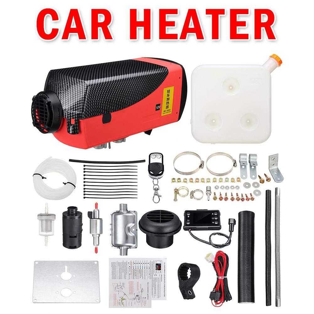 Eruditter Chauffage de Voiture 5 kg 12 V Chauffage de Carburant avec té lé commande LCD pour Camping-Car, remorque, Camion, Bateau